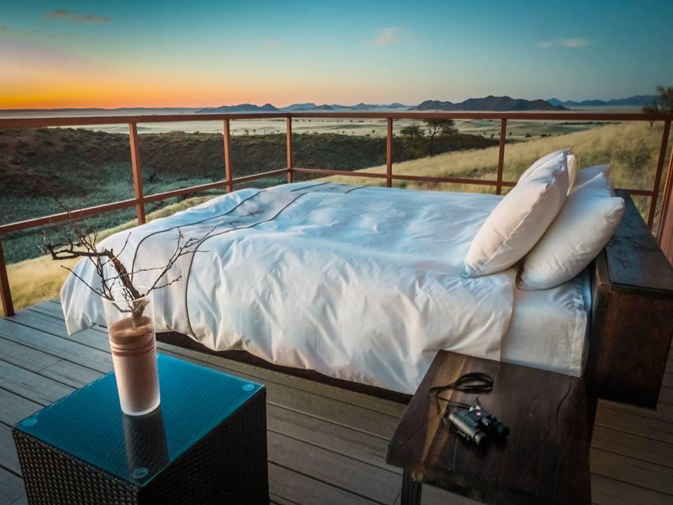 Riksja Namibie slaapplek