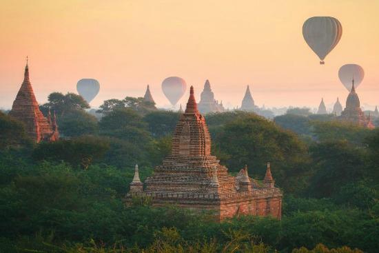 Bagan Myanmar luchtballon