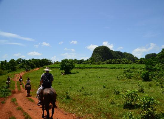 Cuba Viñales paardrijden