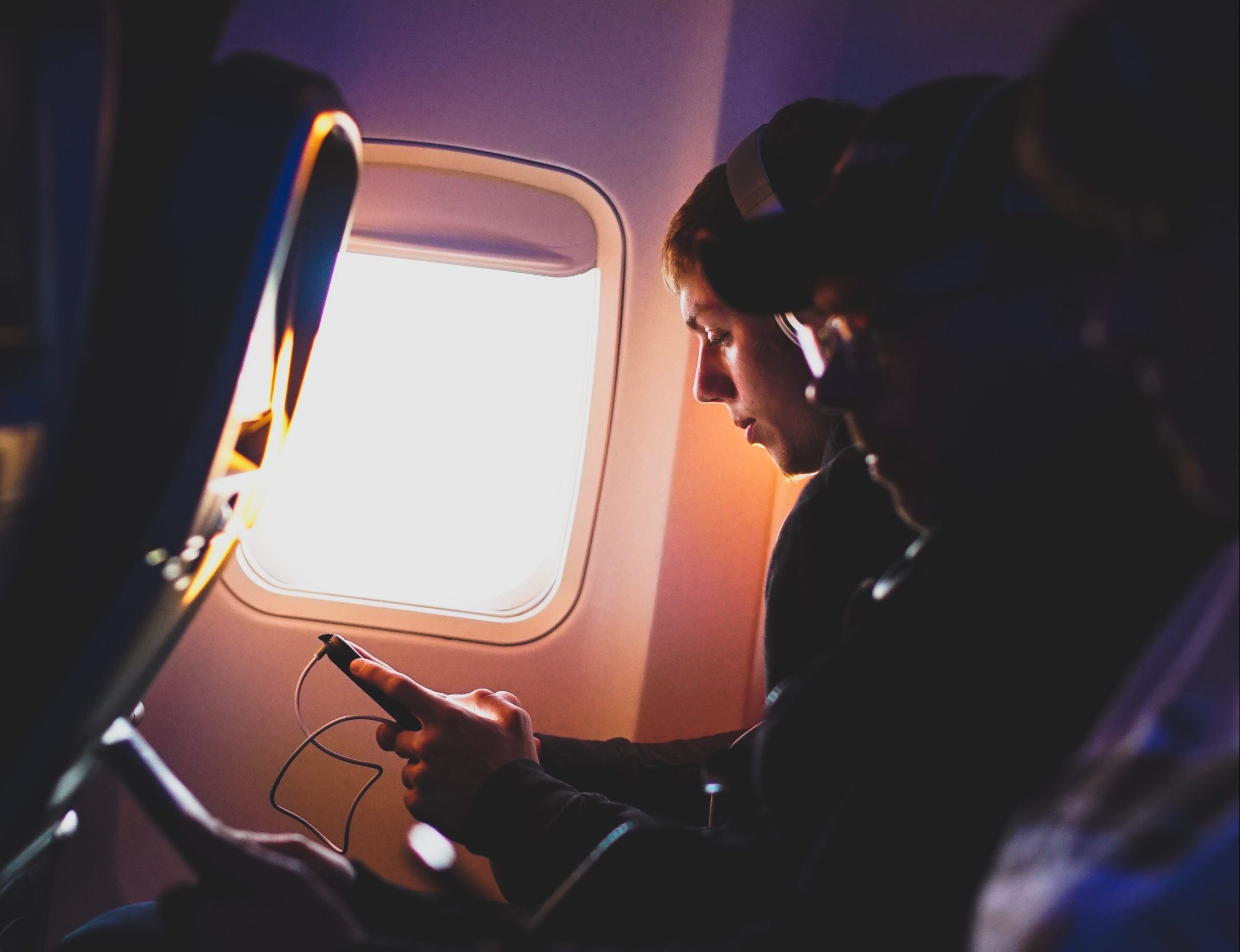 koptelefoon vliegtuig
