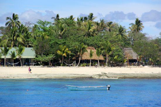 Genieten op het strand in Fiji