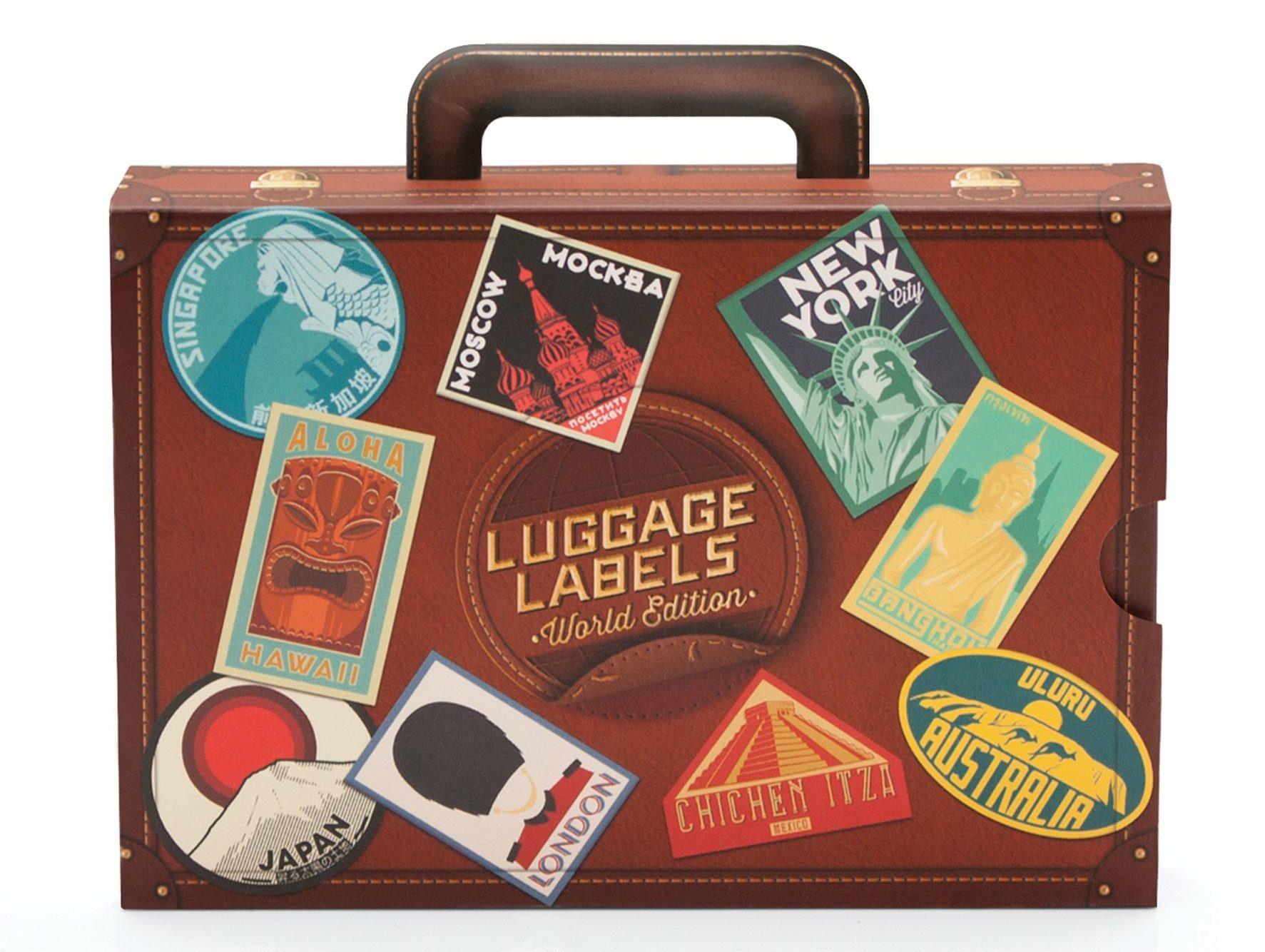 vintage stickers koffer - Moederdag