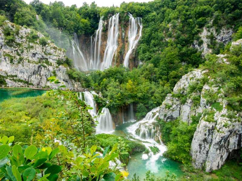 Plitvice meren watervallen Kroatie