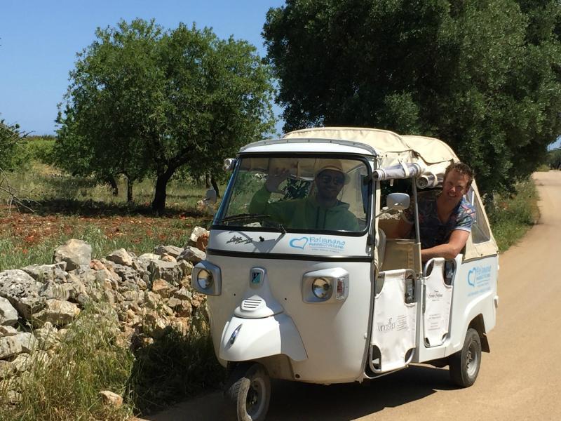 Polignano tuktuk Zuid-Italië