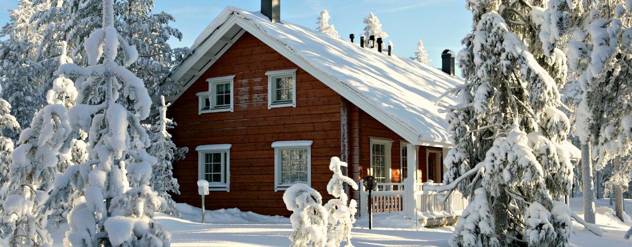 overnachten chalet Lapland