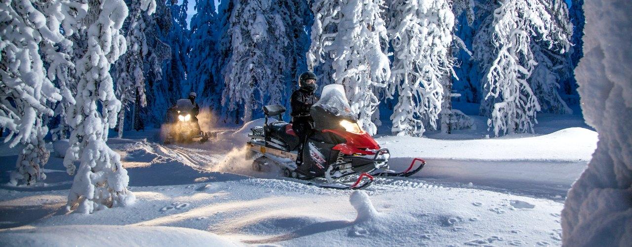 Vakantie Lapland- Sneeuwscooter