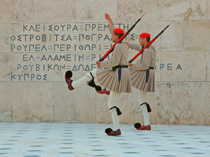 rondreis griekenland athene wachters
