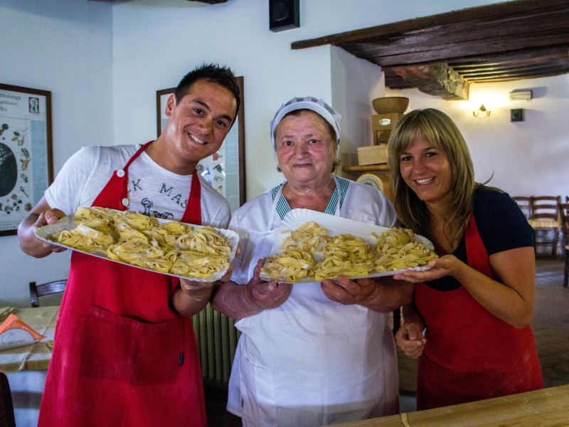 Pasta maken Italië