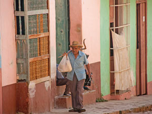 Trinidad wereldbestemming - straatbeeld