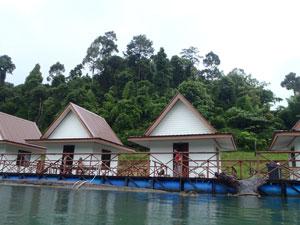 Drijvende huisjes Thailand