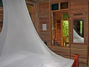 Thailand klamboe in jungle lodge