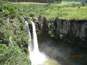 Zuid-Afrika reiziger fam de Haan - waterval