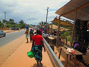 Lokale markt in Mozambique