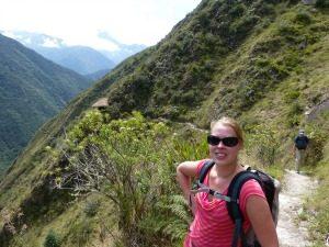 Dagrugzak op weg naar Machu Picchu