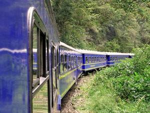 De trein van Cusco naar Aquas Calientes, backpacker klasse vervoer