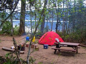Kamperen in de wildernis