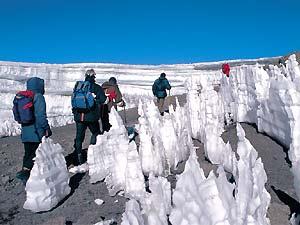 tanzania kilimanjaro icepeaks