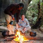 Kamperen in grot Zuid-Afrika