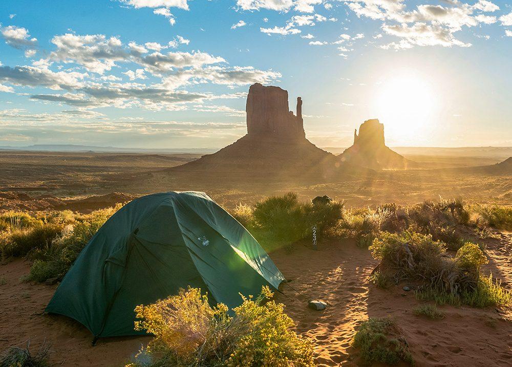 kamperen Monument Valley Amerika