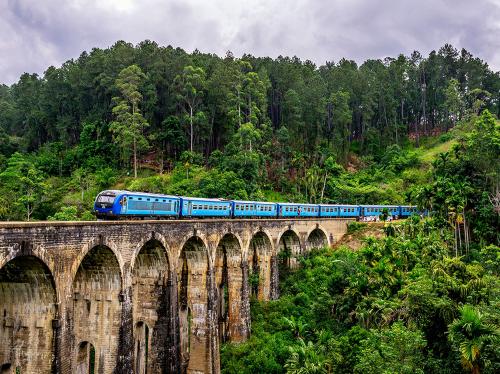 reizen met de trein in Sri Lanka