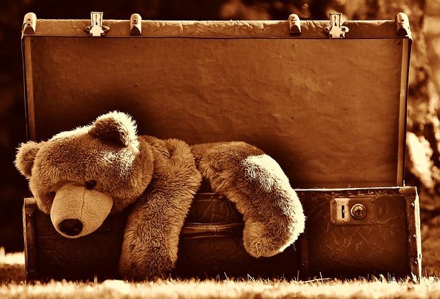 teddybeer op vakantie