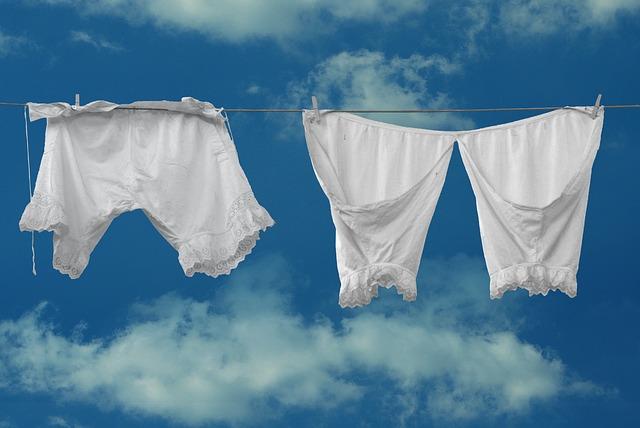 ondergoed waslijn