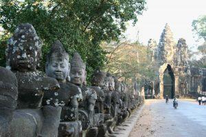 Muur rondom tempelcomplex